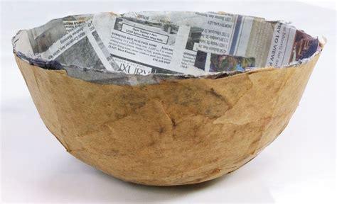 Craft Paper Mache - tissue paper bowls paper mache on