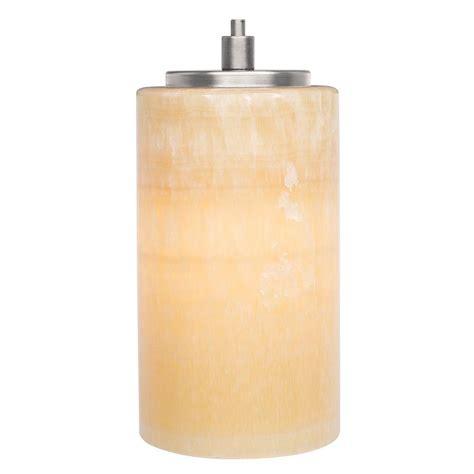 Lbl Lighting Onyx Cylinder 1 Light Satin Nickel Hanging Onyx Pendant Lighting