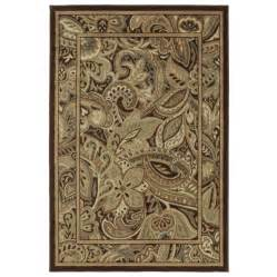 shop shaw living 9 2 quot x 12 paisley park area rug at lowes