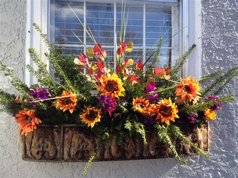 fall flowers for window boxes fall window box house things ideas