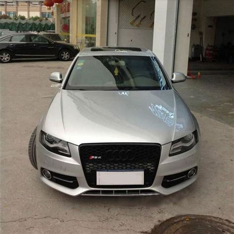 how make cars 2012 audi a4 spare parts catalogs a4 b8 black frame with black 4ring front bumper mesh grill grilld for audi a4 s4 rs4 2009 2010