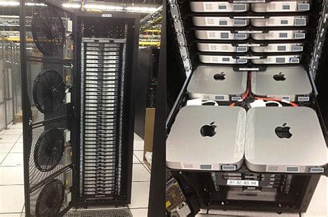 best mac server nerdery here s what a rack of 160 mac minis looks like