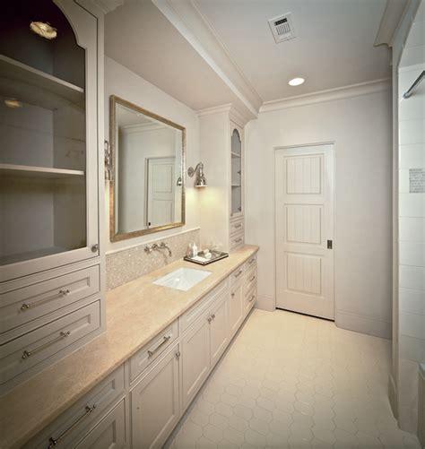 long tiles for bathroom hex floor transitional bathroom the owen group