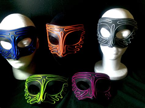 Light Mask by Mask Light Up Mask Total 2 X In Pack Nighthawk