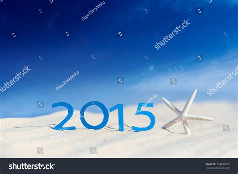 new years 2015 vacation time tropical 2015 happy new year stock photo 234244060