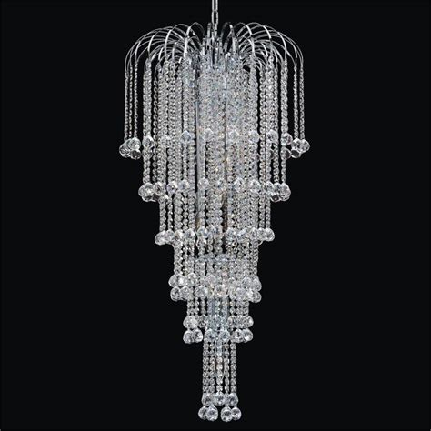 Glass Chain Chandelier Faceted Ball Waterfall Grand Chandelier Cascade 532f