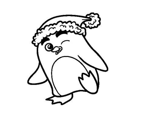 imagenes de navidad para colorear grandes dibujo de ping 252 ino con gorro de navidad para colorear
