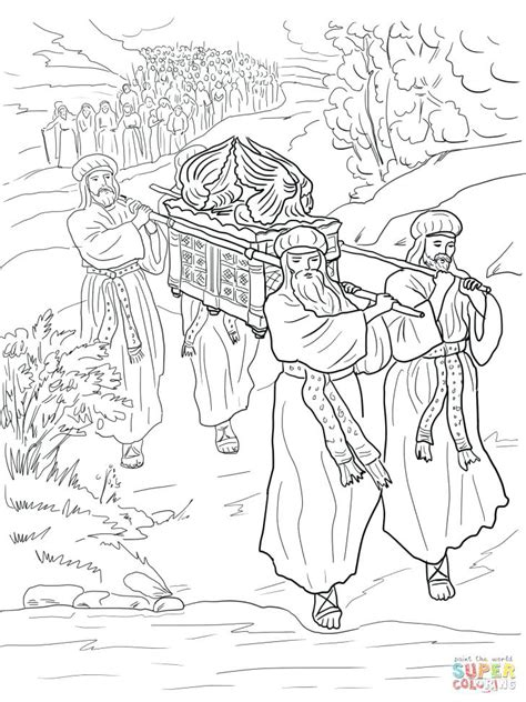 Free Coloring Pages Of Joshua And The Battle Of Jericho