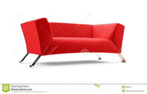 red couch photography red couch over white royalty free stock photography