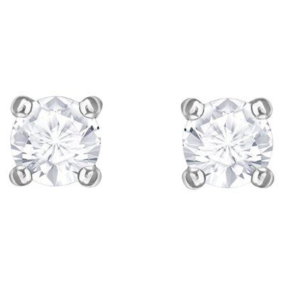Earrings Curved Swarovski Ab Silver Rhodium swarovski 5408436 attract pierced earrings white rhodium plating abapri uk