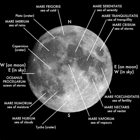 moon map map of the moon