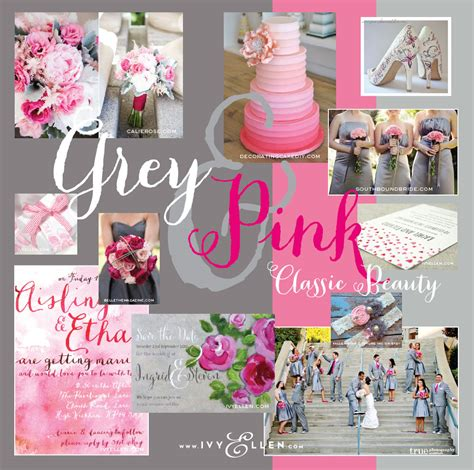pink and grey color scheme combination wedding colour schemes archives ivy ellen