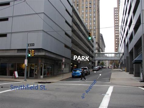 Pittsburgh Parking Garage by Forbes Garage At 400 Cherry Way Pittsburgh Parking