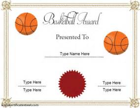 basketball award certificate templates 9 best images of basketball certificate templates free