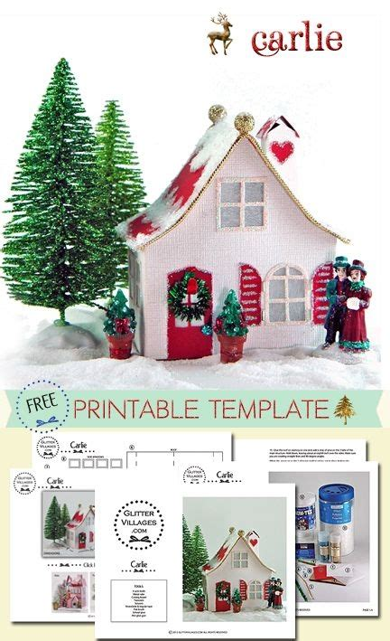 printable house pdf free christmas village putz like printable pdf template
