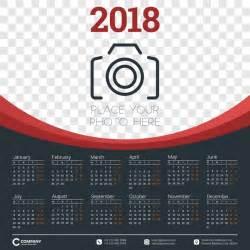 Calendar 2018 With Photos 2018 Calendar With Photo Vector Vector Calendar