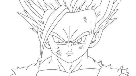 imagenes de goku para dibujar a lapiz completos gohan ssj3 para colorear imagui