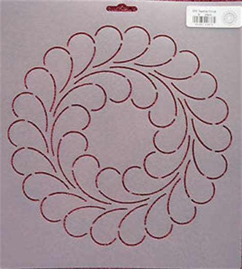Feather Stencils For Quilting by Feather Quilting Stencils Ebay