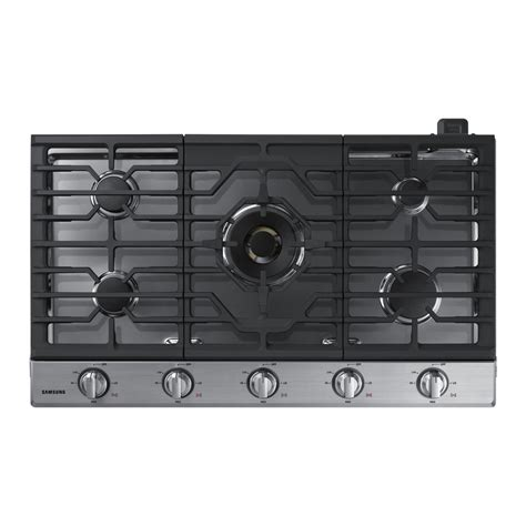 Samsung Cooktop Gas shop samsung premium plus 5 burner gas cooktop stainless steel common 36 in actual 36 in