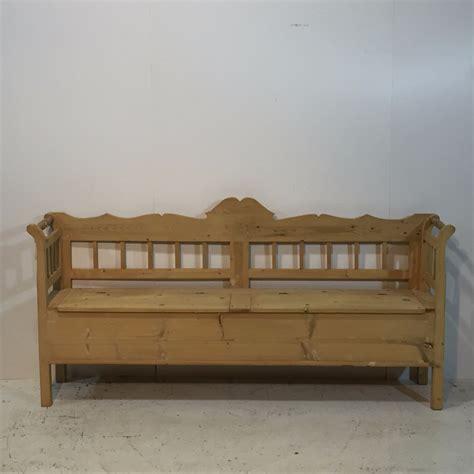 pine bench with storage large antique pine farmhouse storage bench