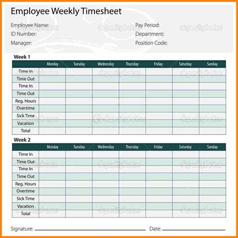 8 Payroll Timesheet Template Sles Of Paystubs Payroll Template Word
