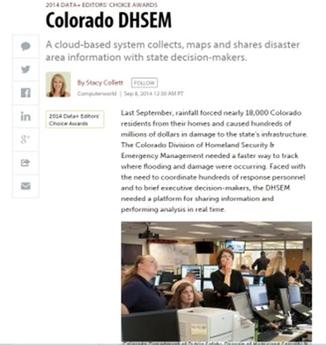 coverage of the case of colorado dhsem in computerworld