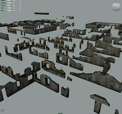 House Building Game destroyed walls 3d models opengameart org