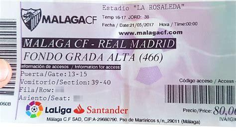 entradas para el malaga real madrid quot busco entrada quot marca