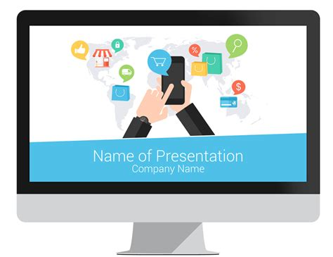 template ecommerce e commerce powerpoint template presentationdeck