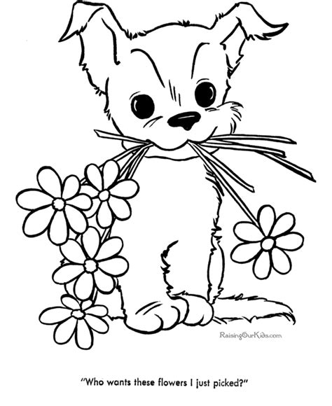 easter coloring pages with puppies dog color pages printable cute puppy pictures to color