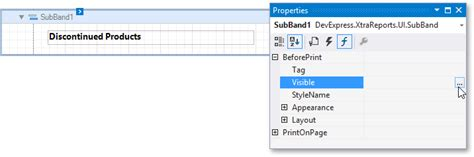 devexpress printable area conditionally changing a band s visibility reporting