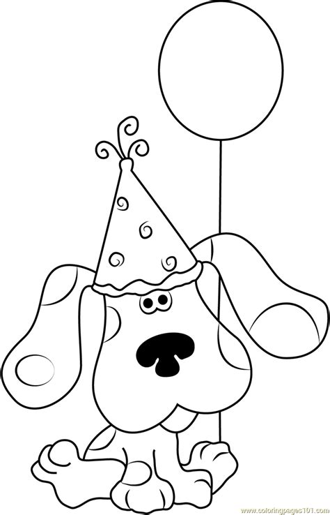 blues clues coloring pages happy birthday blue clues coloring page free blue s