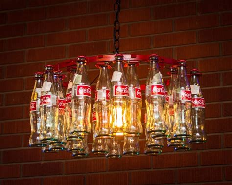 Coke Bottle Chandelier Coca Cola Bottle Chandelier Made In Usa Pendant Style Ebay