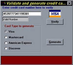 Credit Card Format Code Credit Card Validate And Generate Credit Card Numbers By Duhaime From Psc Cd