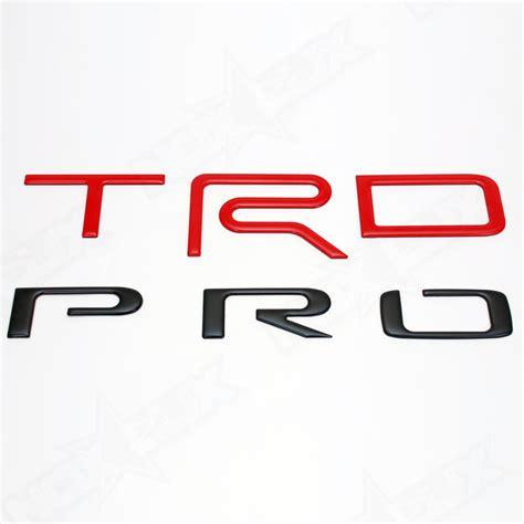 Emblem Logo Trd Kecil 2015 2017 tundra trd pro matte black logo bed inserts nox