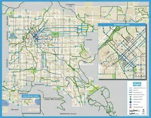 Bike Map Denver Bike Map With Streets Maplets