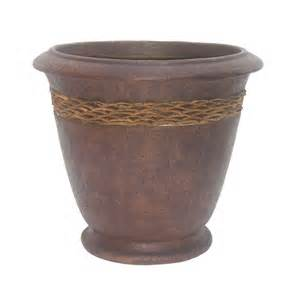 fiberglass planter with coco shell inlay 11 061