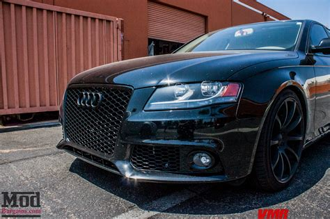 murdered out audi a4 b8 audi a4 on solo werks coilovers gets rs4 grille