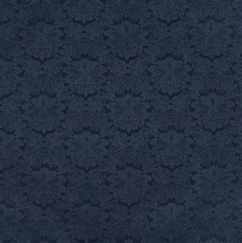 blue pattern fabric navy dark blue floral damask upholstery fabric