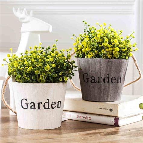 shop wholesale floral garden supplies and home decor items pastoral style wood flower bonsai 1pc succulents nursery