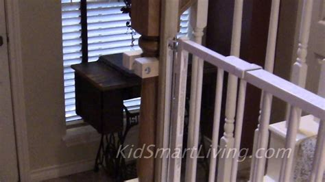 Install Banister by How To Install Baby Gates On Stairway Railing Banisters Without Drilling The Post