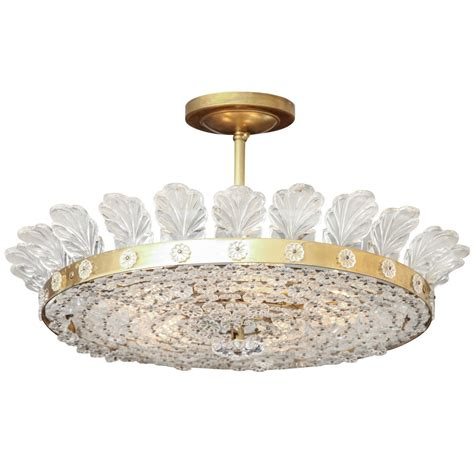 A Bagues Style Flush Mount Ceiling Fixture At 1stdibs Style Flush Mount Ceiling Light