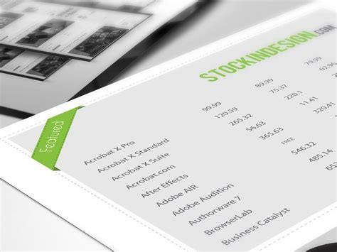5 Awesome Table Styles For Adobe Indesign Stockindesign Indesign Table Styles Templates Free