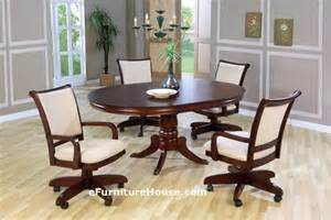 Dining Table Chairs With Wheels Dining Table Dining Table And Chairs With Casters