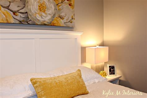 home staging ideas for bedroom using yellow and gray with sherwin williams repose gray or