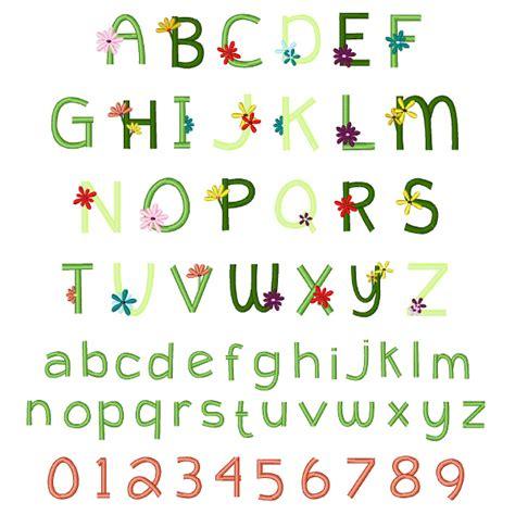 Letter Garden Free by Hippie Garden Font Embroidery Font Annthegran