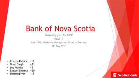 bank of scotia bank of scotia rrsps
