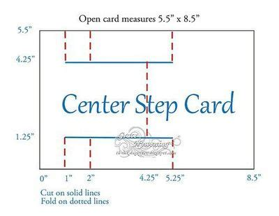4 step card template a2 stair step card guide papercraft juxtapost