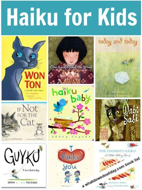 poetry picture books for children haiku poetry books for