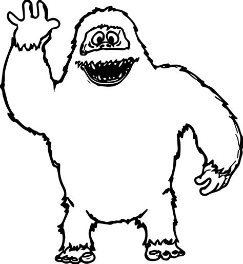 coloring pages abominable snowman abominable snowman free colouring pages
